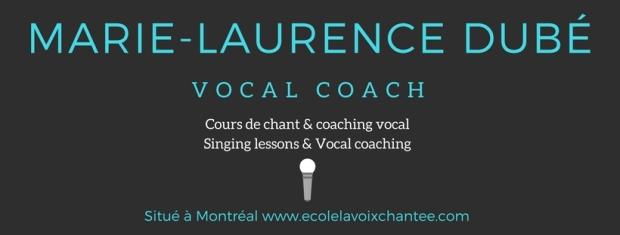 Vocal Coach Montréal Marie-Laurence Dubé